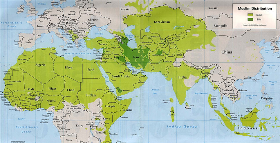 Interesting times sunni and shia a map tells it all sunni and shia a map tells it all gumiabroncs Images
