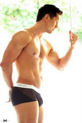 Hunk Steve Kim in the dresscode that has become a trademark.