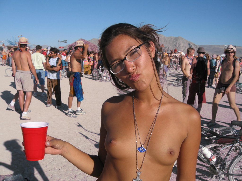 At burning man nude in public opinion
