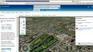Geocoding UK Addresses in 3D in Virtual Earth