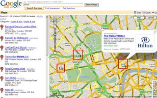 Google Maps Ads Sponsored Links