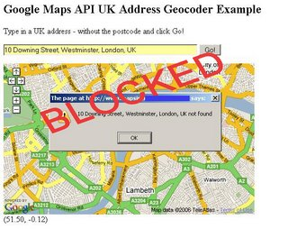 UK Address Geocoding Blocked
