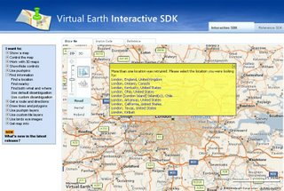 Virtual Earth SDK
