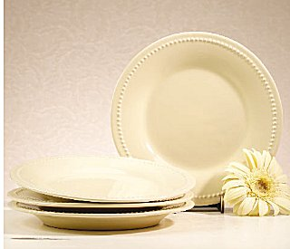 I love my butter cream colored dishes. They are made by Demdaco. Nate and I got enough dinner plates salad plates and bowls for eight but I plan to get ... & Clementine: MY DISHES