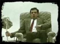 Mr Bean a la deriva en el auto