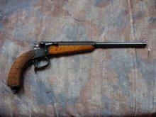 schijf pistool 6 mm flobert uit de periode 1890 -1900