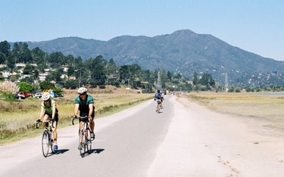 Image of bike path in Mill Valley, California