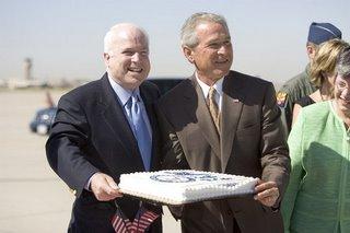Bush, McCain cake