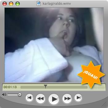 video de carla giraldo: