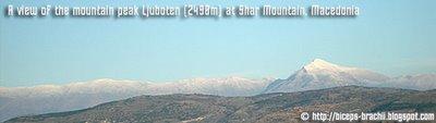 Ljuboten peak at Shar Mountain