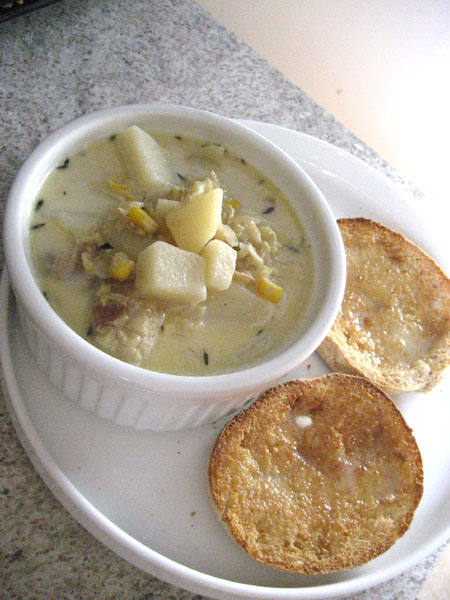 Cooking up a storm new england fish chowder and english for New england fish chowder