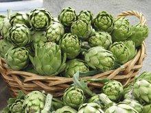Um bouquet de alcachofras