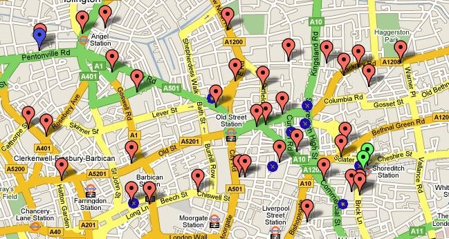 LDN Massive: Banksy Location Map!