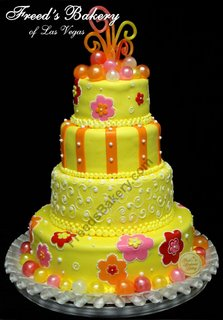 Flower Power Wedding Cake wc