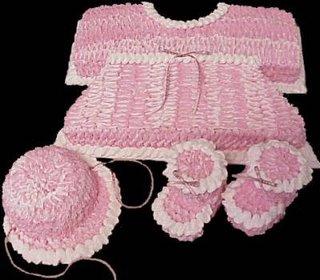 Baby Shower Pink Layette Cake babycake