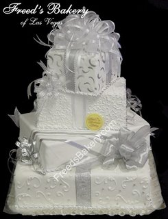 Silver Wedding Cake wc