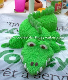 Kids Alligator Cake kidz