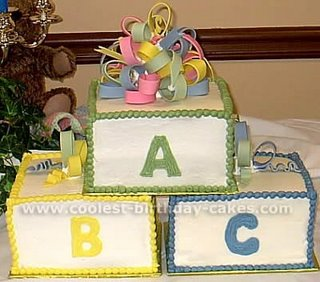 Baby Blocks Cake babycake