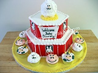 Baby Shower Barnyard Cake babycake