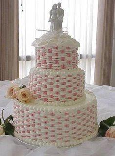 Basket Weave Wedding Cake wc