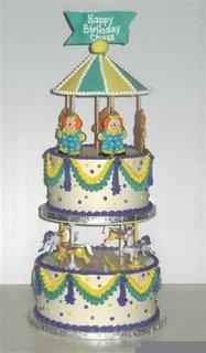Carousel Birthday Cake kidz