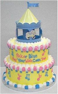 Carousel Baby Shower Cake babycake