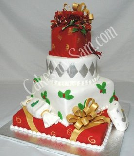 Christmas Packages Cake xmas