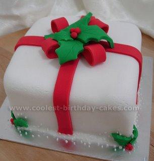 Christmas Present Cake xmas