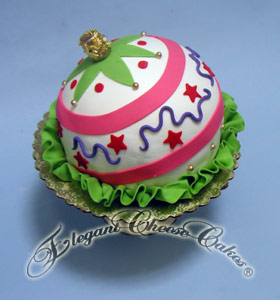 Christmas Ornament Cake xmas