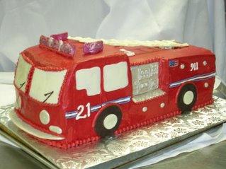 Firetruck Cakes kidz