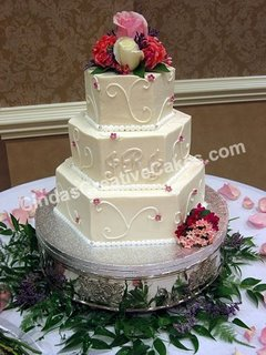 3 Tier Hexagon Wedding Cake wc