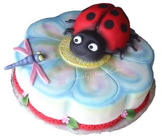 Kids Lady Bug Birthday Cake kidz