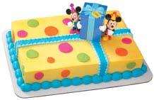Kids Mickey and Minnie Birthday Cake kidz