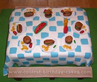 Picnic Table Cake kidz misc
