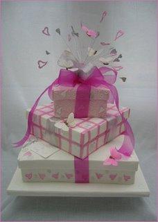 Pink Butterflies Cake misc