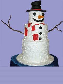 Snowman Christmas Cake xmas