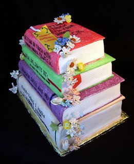 Stack of Books Cake misc