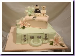 Stack of Cases Wedding Cake wc