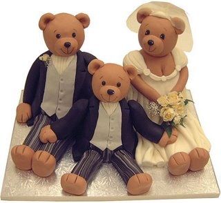 Family of Bears Wedding Cake wc