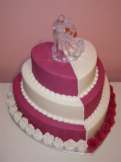 Heart Wedding Cake wc