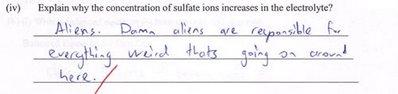 Blame the aliens