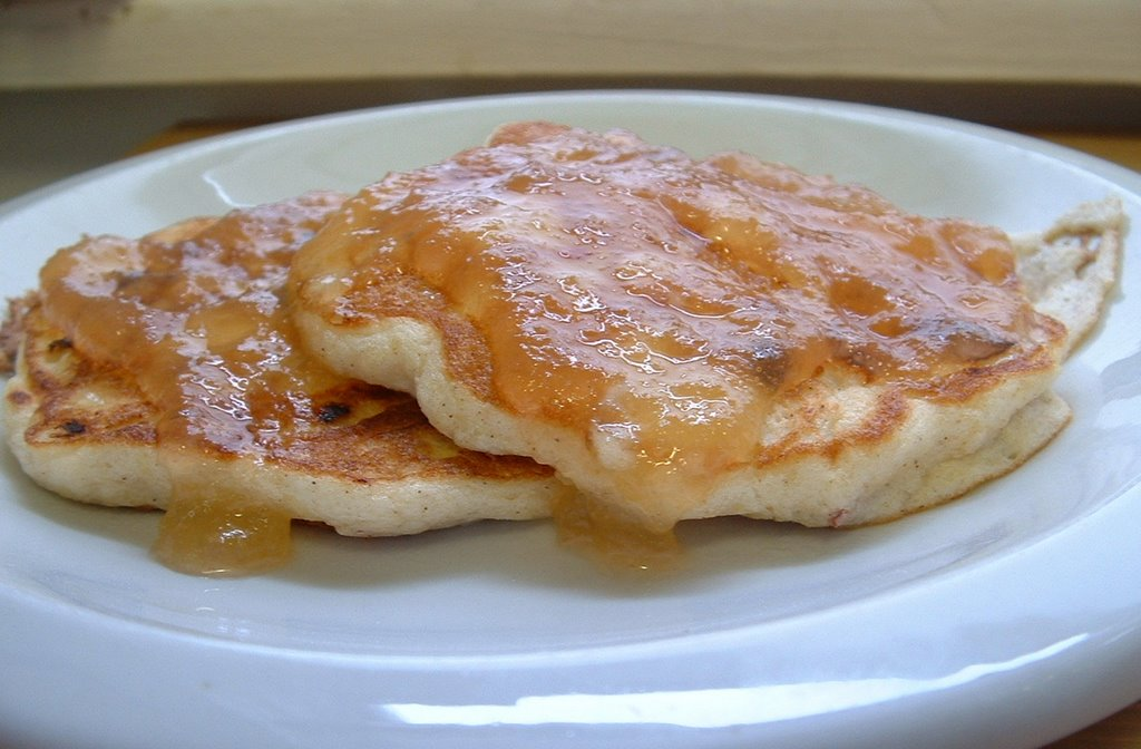 Free Range Living: Cottage Cheese Apple Pancakes