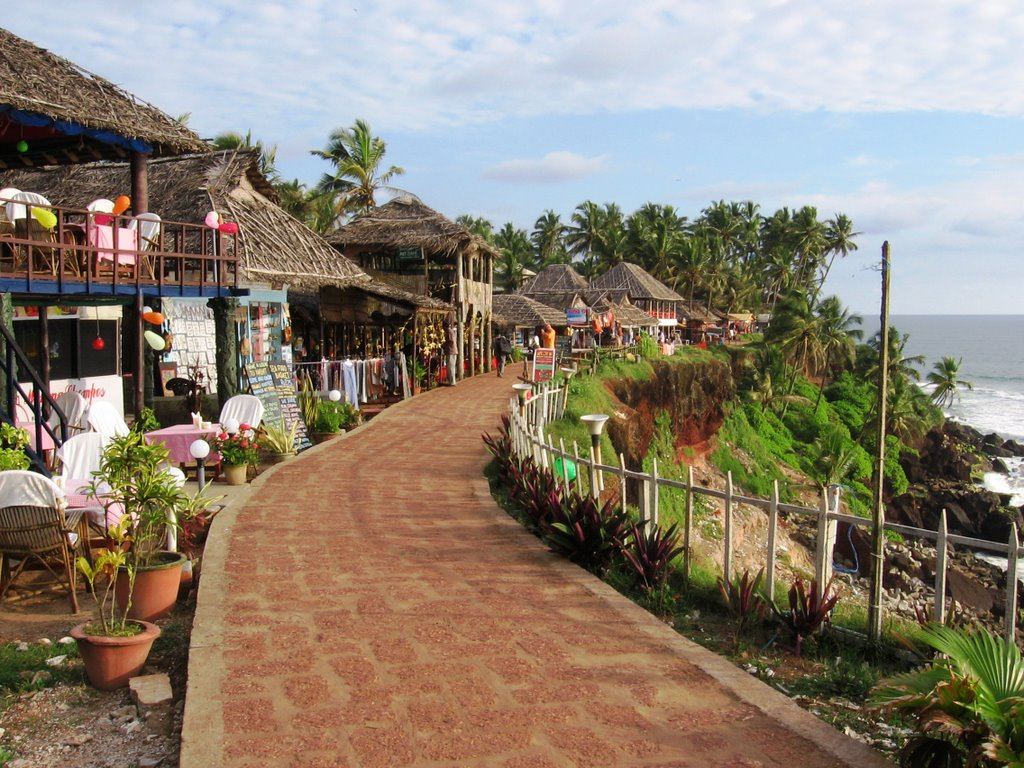 Varkala India  city photos : Once I arrived in Varkala, I checked into my little hut at the Bamboo ...