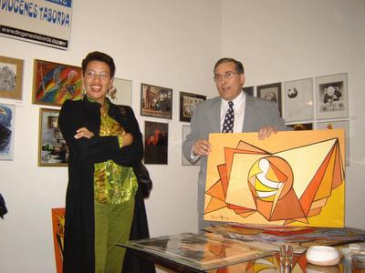 Carola Blanco Landaeta con Jorge Volpe Stessens
