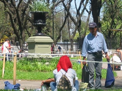 Copones franceses en el parque Patricios