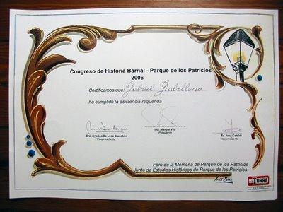 Diploma Foro de la Memoria