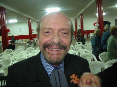 Horacio Ferrer en el club Huracán