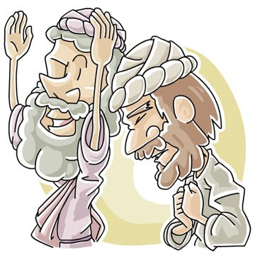 A Pharisee and a tax collector