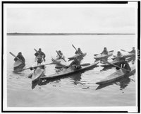 Eskimos in kayaks, REPRODUCTION NUMBER:  LC-USZ62-111135, Library of Congress, Prints & Photographs Division.