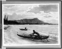 Outrigger Canoes, Library of Congress, Prints & Photographs Division, [reproduction number, LC-USZ62-105953